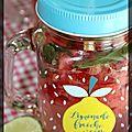 P'tite boisson rafraîchissante fraise, pastèque et menthe