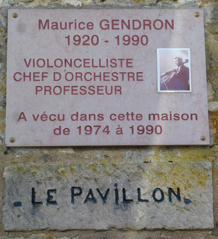 Plaque maison Maurice Gendron 10 rue de Hulay