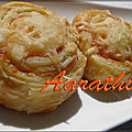 Puff pinwheels with smoked salmon