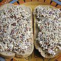 Recette de creton cru végétalien sans viande - amande, quinoa germé, ail, chanvre et épices