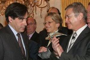 Richard Dell'Agnola avec François Fillon et Michèle Alliot-Marie