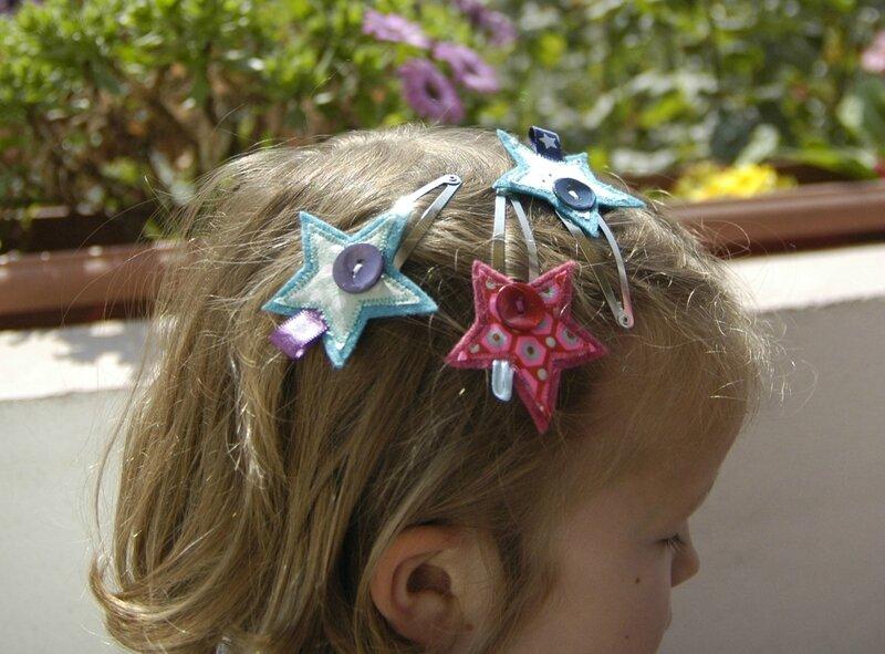 Brodi Broda-barrettes étoiles pour filles-cadeau personnalisé enfant