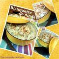 Blanquette de dinde aux amandes & champignons (cuisson cocotte minute)