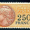 La création de fiscaux supérieurs à 100 francs après guerre
