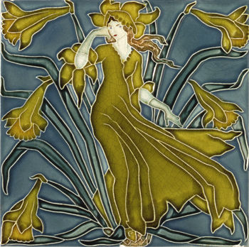 Daffodil_Tile_from_Flora_s_Train_by_Walter_Crane_1900