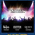 Le rock legends tribute festival annoncé au palais des sports !