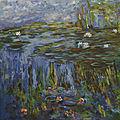 Les nymphéas d'après Monet.
