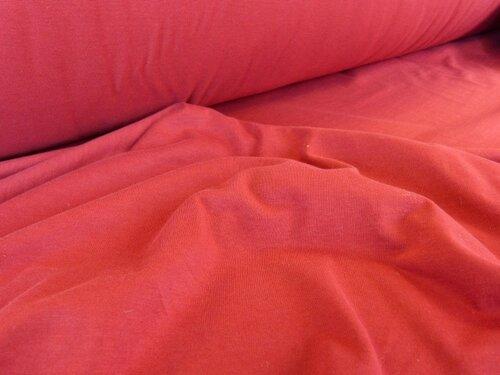 Jersey coton bio cerise