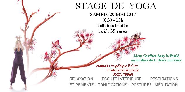 stage de yoga du 20 MAI