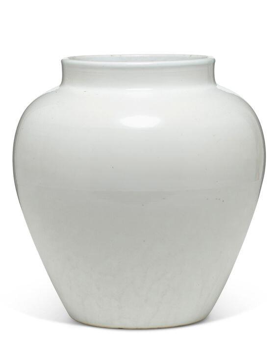 A white-glazed baluster jar, Ming dynasty, 15th-16th century